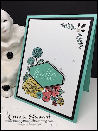 MAKE IT MONDAY FREE TUTORIAL - Accented Blooms Card - download the FREE tutorial at www.SimplySimpleStamping.com - look for the June 4, 2018 blog post!