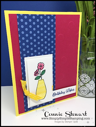 MAKE IT MONDAY FREE TUTORIAL - In-Color Birthday Wishes Card - download the FREE tutorial at www.SimplySimpleStamping.com - look for the June 11, 2018 blog post!