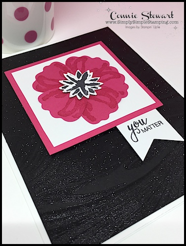 MAKE IT MONDAY FREE TUTORIAL - You Matter card - download the FREE tutorial at www.SimplySimpleStamping.com - look for the June 18, 2018 blog post!