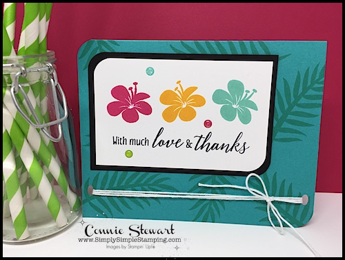 Join Connie for a FLASH CARD video! With Love & Thanks Card - www.SimplySimpleStamping.com - look for the July 5, 2018 blog post!