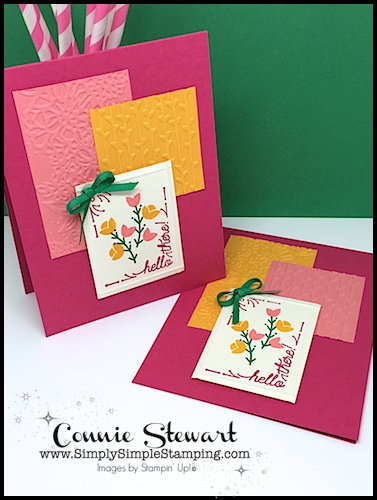 Join Connie For A FLASH CARD 2.0 Video! Create 2 For 1 Hello There Cards