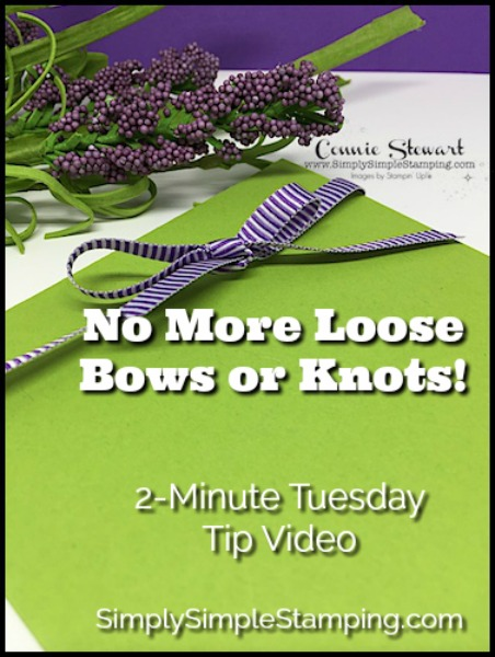 2-Minute Tuesday Tip – No More Loose Ribbon