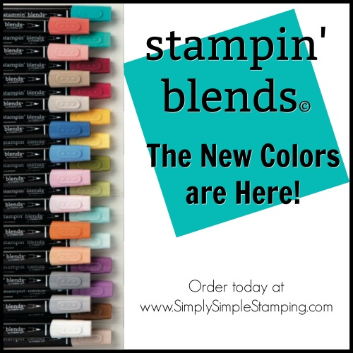 New Colors of STAMPIN' BLENDS are now in stock! Order yours at www.SimplySimpleStamping.com