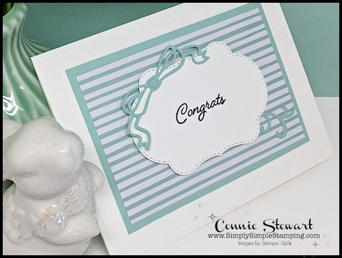 Use your cardstock wisely! Check out the BLENDED SEASONS BABY or WEDDING card video. See the video at www.SimplySimpleStamping.com - look for the August 2, 2018 blog post.