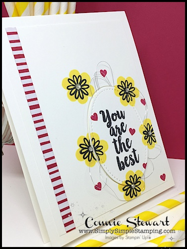SPEEDY DELIVERY 2-Minute Video - watch Connie Stewart create this quick card with the A Big Thank You stamp set. Easy and SPEEDY! Look for the August 18, 2018 post on www.SimplySimpleStamping.com
