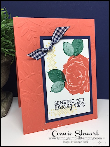 Join Connie for a FLASH CARD video! Healing Vibes card - www.SimplySimpleStamping.com - look for the August 9, 2018 blog post!