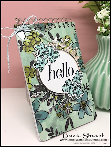 2-MINUTE TUESDAY TIP VIDEO - Spiral Notebook Cover - www.SimplySimpleStamping.com - look for the August 14, 2018
