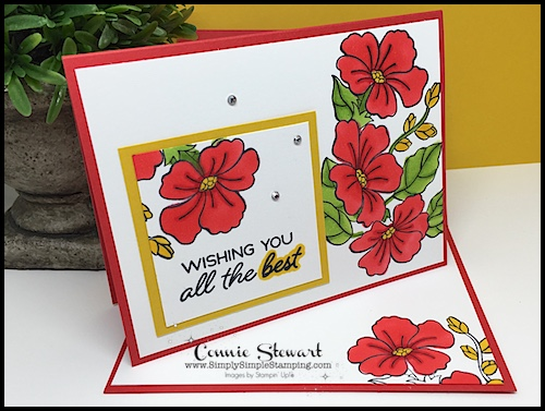 Join Connie for a STAMPIN' BLENDS video! Wishing You All the Best card - www.SimplySimpleStamping.com - look for the August 16, 2018 blog post!
