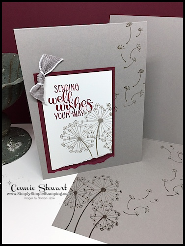 MAKE IT IN MINUTES FLASH CARD Video - Dandelion Wishes by Connie Stewart - www.SimplySimpleStamping.com - August 30, 2018 post
