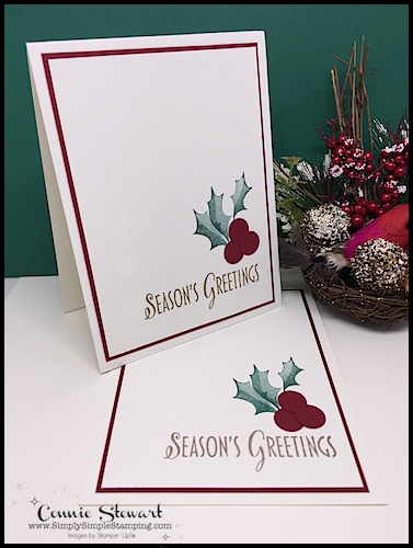 Now or WOW Video – Season's Greetings Holly Cards