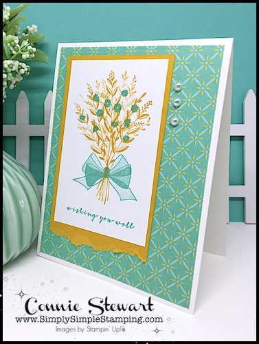 SPEEDY DELIVERY 2-Minute Video - watch Connie Stewart create this quick card with the Wishing You Well stamp set. Easy and SPEEDY! Look for the September 15, 2018 post on www.SimplySimpleStamping.com