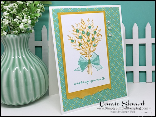 Video Tutorial! Create this quick card with the Wishing You Well stamp set. Connie Stewart, Simply Simple Stamping