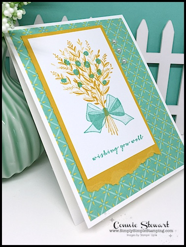 Wishing you Well All Occasion Card: 2 Minute Video with Connie Stewart, Simply Simple Stamping.