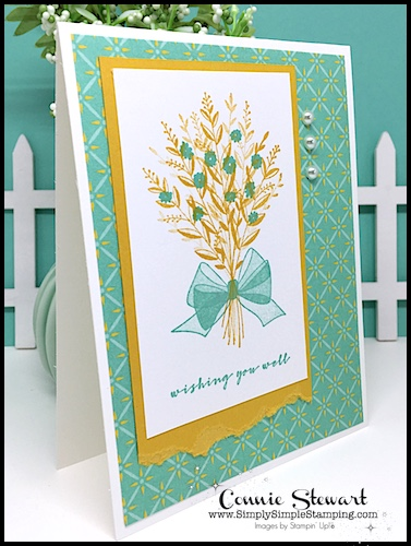 Wishing-You-Well-Greeting-Card-with-Gold-Foliage-and-Teal-flowers
