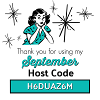 Use the SEPTEMBER Host Code H6DUAZ6M on your order of $30 or more and receive Surprise & Delight in your hand stamped thank you card! www.SimplySimpleStamping.com