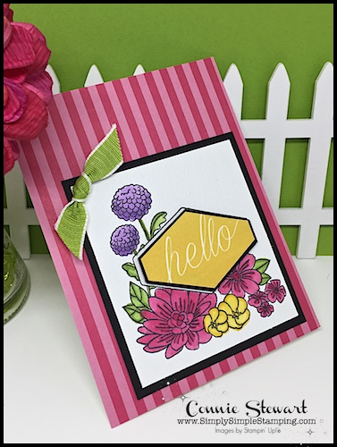Creating with Stampin' Blends. Join Connie for a STAMPIN' BLENDS video! Accented Blooms card - www.SimplySimpleStamping.com - look for the September 27, 2018 blog post! #cardmaking #greetingcards #stampinupcards