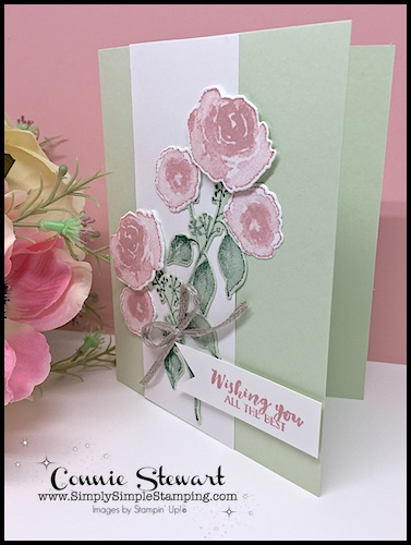 Card-Making-Double-Feature-All-Occasion-Handmade-Card-Pink-Flowers-on-Green-Background