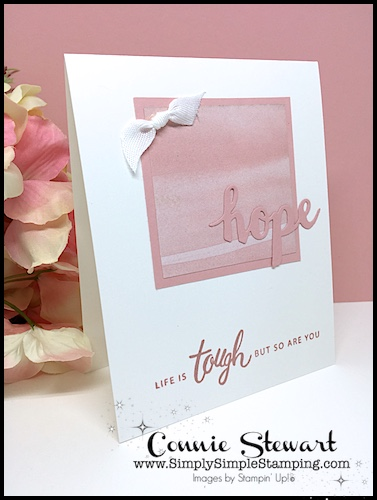 Simple Handmade Card for Hope and Encouragement