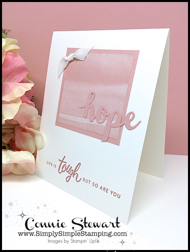 Simple Handmade Card with video tutorial. This is a SPEEDY DELIVERY 2-Minute Video - watch Connie Stewart create this quick card with the Friendly Expressions stamp set and Sunshine Wishes Thinlits. Easy and SPEEDY! Look for the September 29, 2018 post on www.SimplySimpleStamping.com #cardmaking #stampinupcards #greetingcards #conniestewart #simplysimplestamping