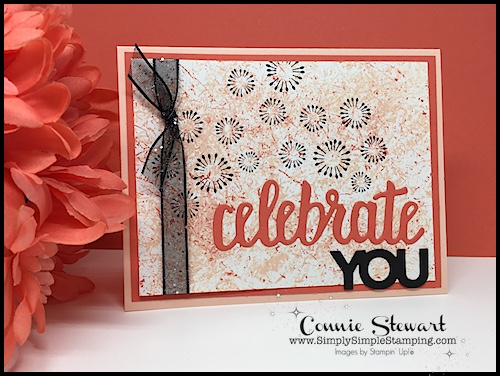 Cling Wrap Backgrounds: 2-MINUTE TUESDAY TIP VIDEO - www.SimplySimpleStamping.com - look for the October 16, 2018. #cardmaking #greetingcards #stampinupcards #conniestewart #simplysimplestamping