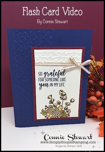 Video Tutorial: Country Home greeting card will WOW your friends and family and this card makes such quick and easy Flash Card. The embossing on the sides add a gorgeous element! Connie Stewart, Simply Simple Stamping. #cardmaking #greetingcards #stampinupcards #conniestewart #simplysimplestampingwww.SimplySimpleStamping.com - October 4, 2018 post