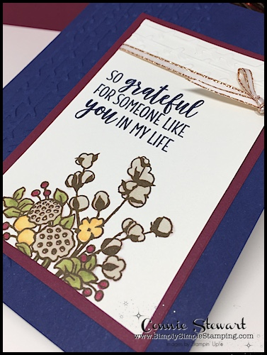 Video Tutorial: Country Home greeting card will WOW your friends and family and this card makes such quick and easy Flash Card. The embossing on the sides add a gorgeous element! Connie Stewart, Simply Simple Stamping. #cardmaking #greetingcards #stampinupcards #conniestewart #simplysimplestamping