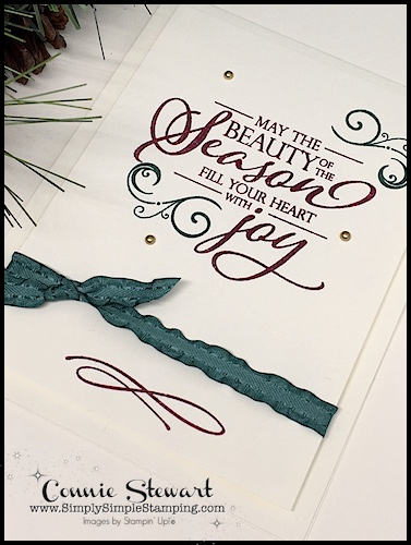 SEASON OF JOY- SPEEDY DELIVERY 2-Minute Video - watch Connie Stewart create this quick Christmas card with the Merry Christmas to All stamp set. Easy and SPEEDY! Look for the October 27, 2018 post on www.SimplySimpleStamping.com #christmascards #greetingcards #cardmaking #stampinupcards #conniestewart #simplysimplestamping