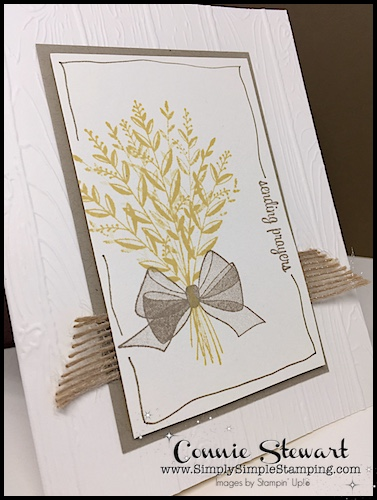 Cardmaking: 5 Minute Thinking of You card-Flash Card Video by Connie Stewart-Lots of cardmaking and handmade cards inspiration and tutorials. #cardmaking #greetingcards #simplestamping #ConnieStewart #SimpleSimpleStamping #stampinupcards