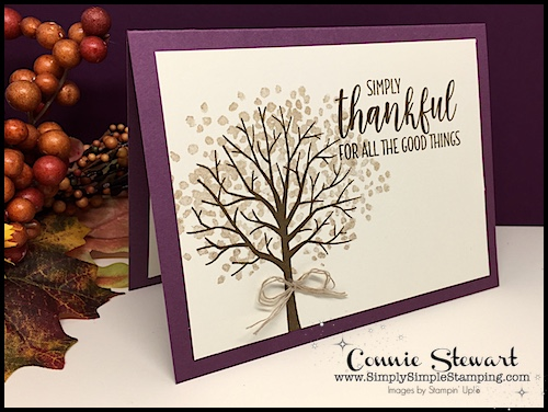 Sheltering Tree: Speedy Delivery 2-Minute Video - Double Feature Video - watch Connie Stewart create this quick card with the Sheltering Tree stamp set. Easy and SPEEDY! Look for the October 20, 2018 post on www.SimplySimpleStamping.com #greetingcards #cardmaking #stampinupcards #conniestewart #simplysimplestamping