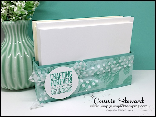 Card Layer Storage solution! 2-MINUTE TUESDAY TIP VIDEO – I'll show you how to make a DIY Box for Card Layer Storage - www.SimplySimpleStamping.com - look for the October 9, 2018 #cardmaking #greetingcards #stampinupcards #conniestewart #simplysimplestamping