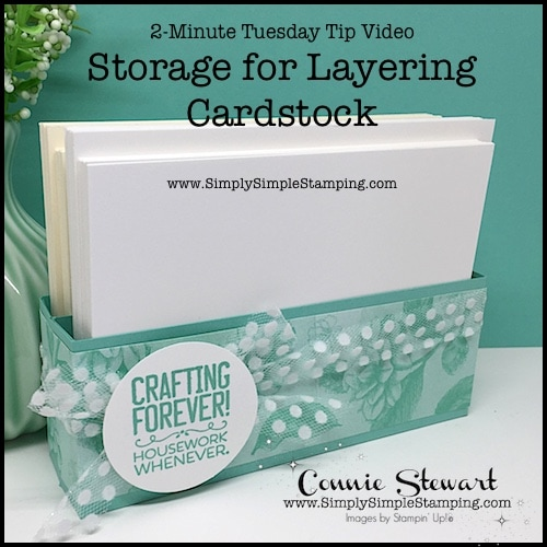 Diy Box for Card Layer Storage | 2-Minute Tuesday Tip Video