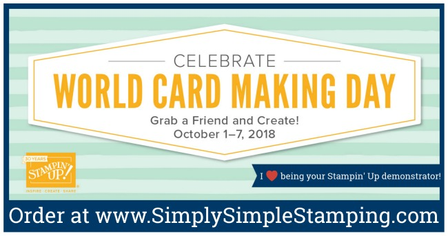 SAVE BIG TIME on lots of your favorite Stampin' Up supplies October 1-7, 2018! See everything on sale at www.SimplySimpleStamping.com