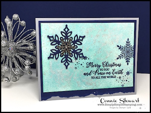 2-MINUTE TUESDAY TIP VIDEO - SHIMMER PAINT TECHNIQUE #3 - Mother of Pearl Technique - www.SimplySimpleStamping.com - look for the November 20, 2018 #cardmakingtips, ,#christmascards,#cardmaking, #simplestamping, #greetingcards, #conniestewart, #simplysimplestamping,