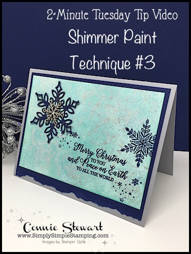 Shimmer Paint Technique #3: 2-Minute Tuesday Tip
