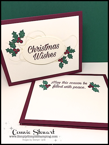 Quick Christmas Card: Speedy Delivery 2-Minute Video - watch Connie Stewart create this quick Christmas card with the Peaceful Poinsettia stamp set. Easy and SPEEDY! Look for the November 10, 2018 post on www.SimplySimpleStamping.com While you're there check out all the many cardmaking ideas and video tutorials! #cardmaking #greetingcards #stampinupcards #ConnieStewart #SimplySimpleStamping