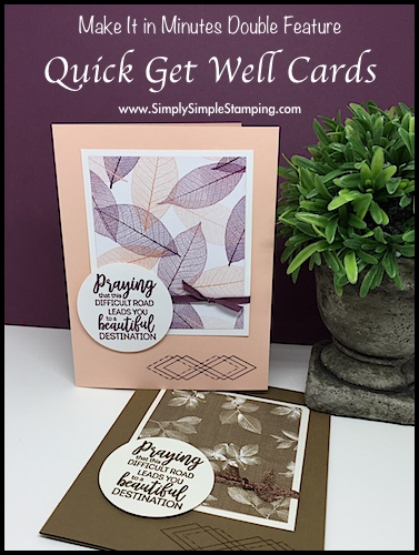 Simple Stamping: 2 Get Well Cards