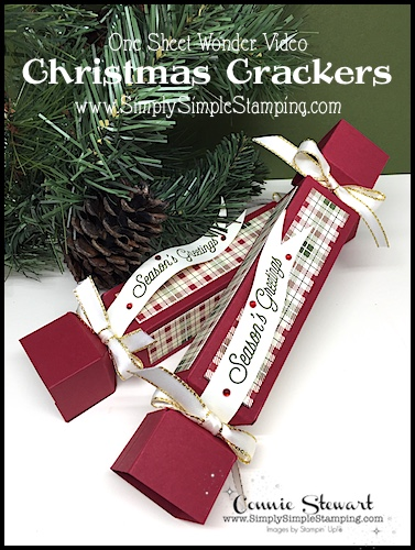 One Sheet Wonder Christmas Crackers | Stocking Stuffer Idea