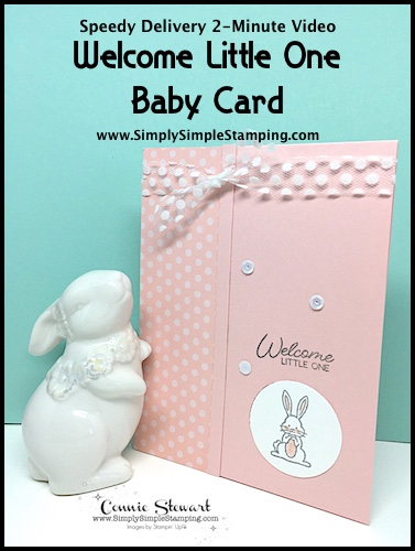 Welcome Little One Baby Card | Speedy Delivery 2-Minute Video