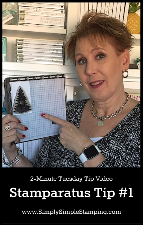 Stamparatus Tip #1 | 2-Minute Tuesday Tip:  Struggle to avoid the hinge of your Stamparatus positioning tool? Watch the video tutorial for a simple trick! #handmadecards #cardmaking #simplestamping #conniestewart #SimplySimpleStamping #cardmakingtechniques
