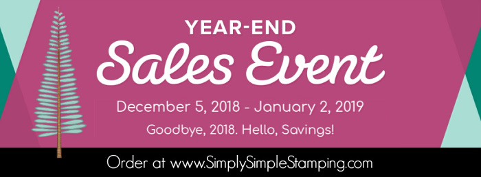 Get the Stampin' Up savings while they last! Use the DECEMBER Host Code DRPZGF3B on your order to get even MORE! Order at www.SimplySimpleStamping.com