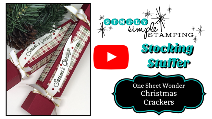 Needing a quick stocking stuffer idea? You can make 2 Christmas Crackers from ONE sheet of cardstock! Watch the video at www.SimplySimpleStamping.com - look for the December 13, 2018 blog post