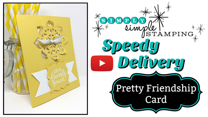 Pretty Friendship Card: Speedy Delivery 2-Minute Video - watch Connie Stewart create this quick Christmas card with the Eastern Beauty stamp set and matching Thinlits. Easy and SPEEDY! Look for the December 1, 2018 post on www.SimplySimpleStamping.com While you're there check out all the many cardmaking ideas and video tutorials! #cardmaking #greetingcards #stampinupcards #ConnieStewart #SimplySimpleStamping #simplestamping