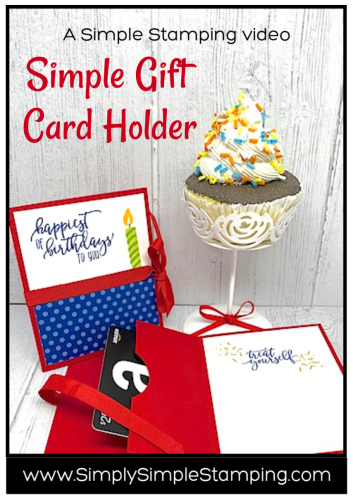 Popular & Creative Gift Card Holder | Simple Stamping