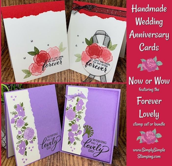 Handmade Wedding Anniversary Cards in Now or Wow Style