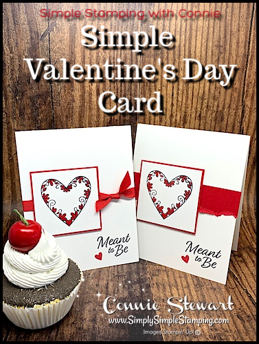 Simple Valentine's Day Card | Simple Stamping