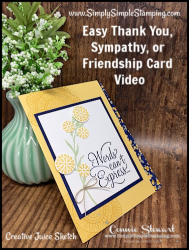 Easy Thank You, Sympathy, or Friendship Card | Creative Juice Video
