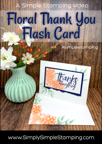 Floral Thank You Flash Card | Simple Stamping