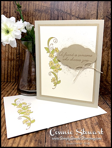 Elegant Friendship Card with Beauty Abounds Stamp Set