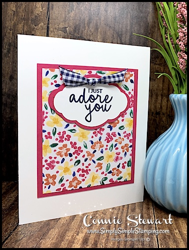 Cards Made Out of Floral Scrapbook Paper with Gingham Ribbon Accent