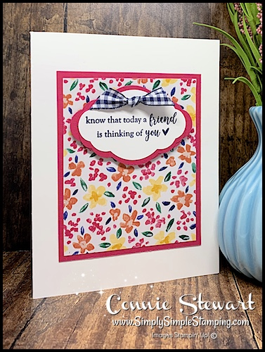 Hand Stamped Greeting Cut out with Stampin Up Pretty Little Label Punch